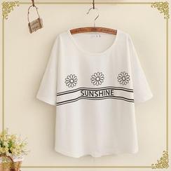 布衣天使 - 短袖印花T恤