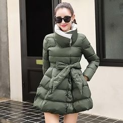 NINETTE - Stand-Collar Padded Buttoned Coat