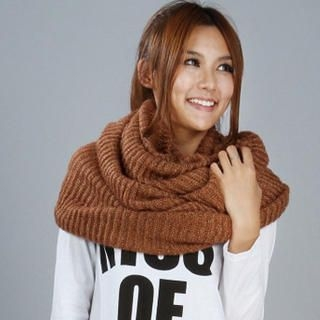 Ando Store - Wool Blend Knit Circle Scarf