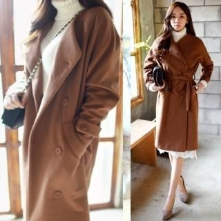 chuu - Double-Breasted Long Coat