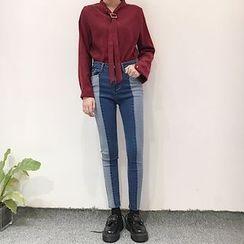 MePanda - Two-Tone Skinny Jeans