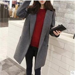 Q.C.T - Notched-Lapel Oversized Coat