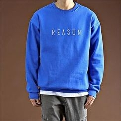 THE COVER - Round-Neck Lettering Pullover