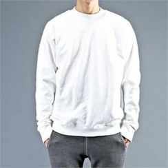 THE COVER - Round-Neck Plain Pullover