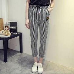 VIZZI - Cropped Striped Pants