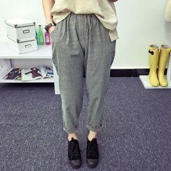 Heybabe - 條紋低胯褲