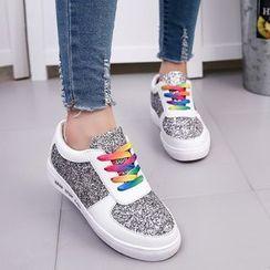 Yoflap - Glitter Panel Sneakers