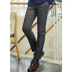 JOGUNSHOP - Flat-Front Slim-Fit Pants