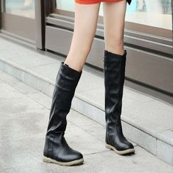 Shoes Galore - Ruched Tall Boots
