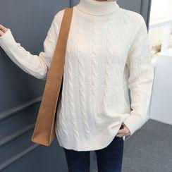 DANI LOVE - Turtle-Neck Cable-Knit Sweater