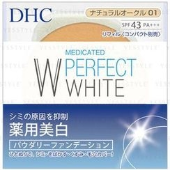 DHC - Medicated Perfect White Powdery Foundation SPF 43 PA+++ (#01 Ocher) (Refill)