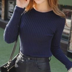 REDOPIN - Crew-Neck Rib-Knit Top