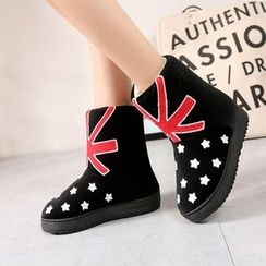 JY Shoes - Star Embroidered Home Boots