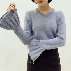 Octavia - Pleated Cuff Sweater