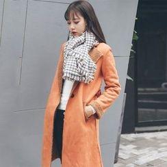 Bodacious! - Fleece-Lined Long Buttoned Coat