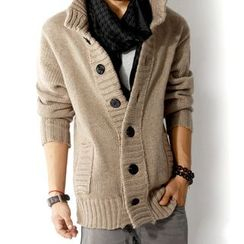 Bay Go Mall - Stand-collar Cardigan