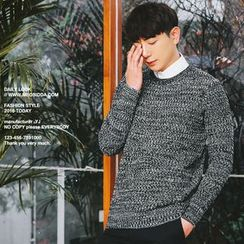 MEOSIDDA - Crew-Neck Mélange Sweater