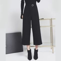 Sonne - Cropped Wool Pants