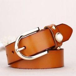 BAIEKU - Embellished Genuine Leather Belt
