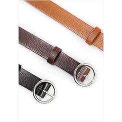 GOROKE - Hoop-Buckle Genuine-Leather Belt