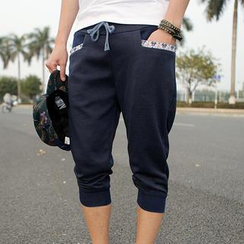 MR.ZERO - Ganado Trim Baggy Cropped Pants