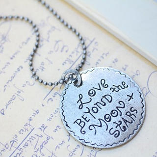 Fit-to-Kill - Romantic LOVE letter Necklace -Silver