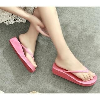 Tovoer - Plain Wedge Flip-Flops