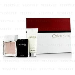 Calvin Klein 卡爾文克來恩 - Euphoria Intense Coffret: Eau De Toilette Spray 100ml/3.4oz + After Shave Balm 100ml/3.4oz + Eau De Toilette 20ml/0.67oz