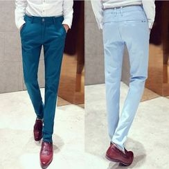 Rocksoul - Plain Straight-Leg Pants