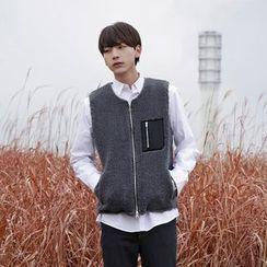 Seoul Homme - Zip-Up Fleece Vest
