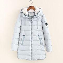 Mocha - Hooded Long Padded Coat