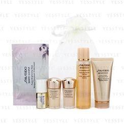 Shiseido - Travel Set: Balancing Softener Enriched 75ml/2.5oz + Cleansing Foam 50ml/1.7oz + Day Emulsion 15ml/0.5oz + Night Emulsion 15ml/0.5oz + Revital Whitening Serum AA EX 10ml/0.33oz + Brightening Mask