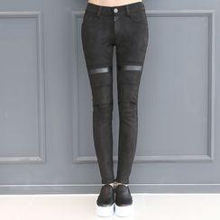 DANI LOVE - Faux-Leather Skinny Pants