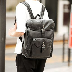BagBuzz - Faux Leather Laptop Backpack