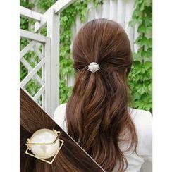 soo n soo - Faux-Pearl Hair Tie (2 Type)
