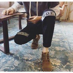 优凡士品 - 字母牛仔布慢跑裤