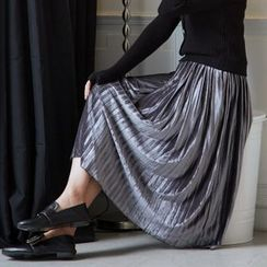 BAIMOMO - Pleated Maxi Skirt