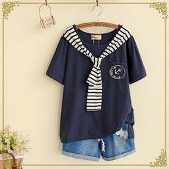 Fairyland - Mock Two Piece T-Shirt