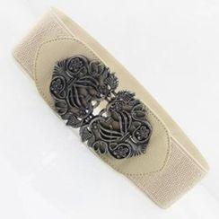 Charm n Style - Metal Buckle Elastic Belt