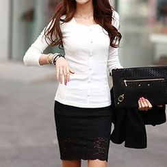 Ranee - Long-Sleeve Buttoned T-Shirt