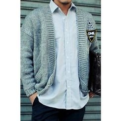 Ohkkage - Open-Front Shawl-Collar Cardigan