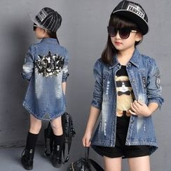Princess House - Kids Embellished Denim Jacket