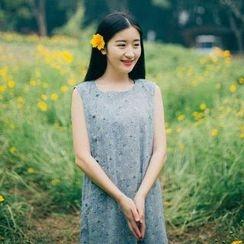 蘭芝 - 碎花無袖連衣裙