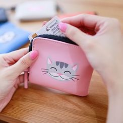 Rinka Doll - Cat Print Faux-Leather Coin Purse