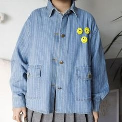Dute - Striped Denim Jacket