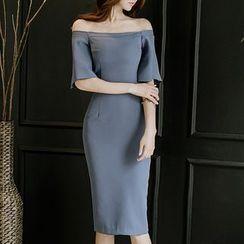 Aurora - 露肩塑身连衣裙