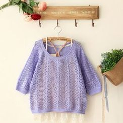 11.STREET - Perforated Knit Top