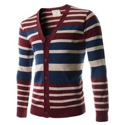 TheLees - Color-Block Stripe Cardigan