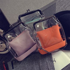 Nautilus Bags - Set: Transparent Handbag + Crossbody Pouch