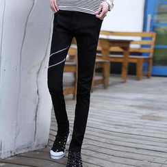 JVR - Zip-Accent Skinny Jeans